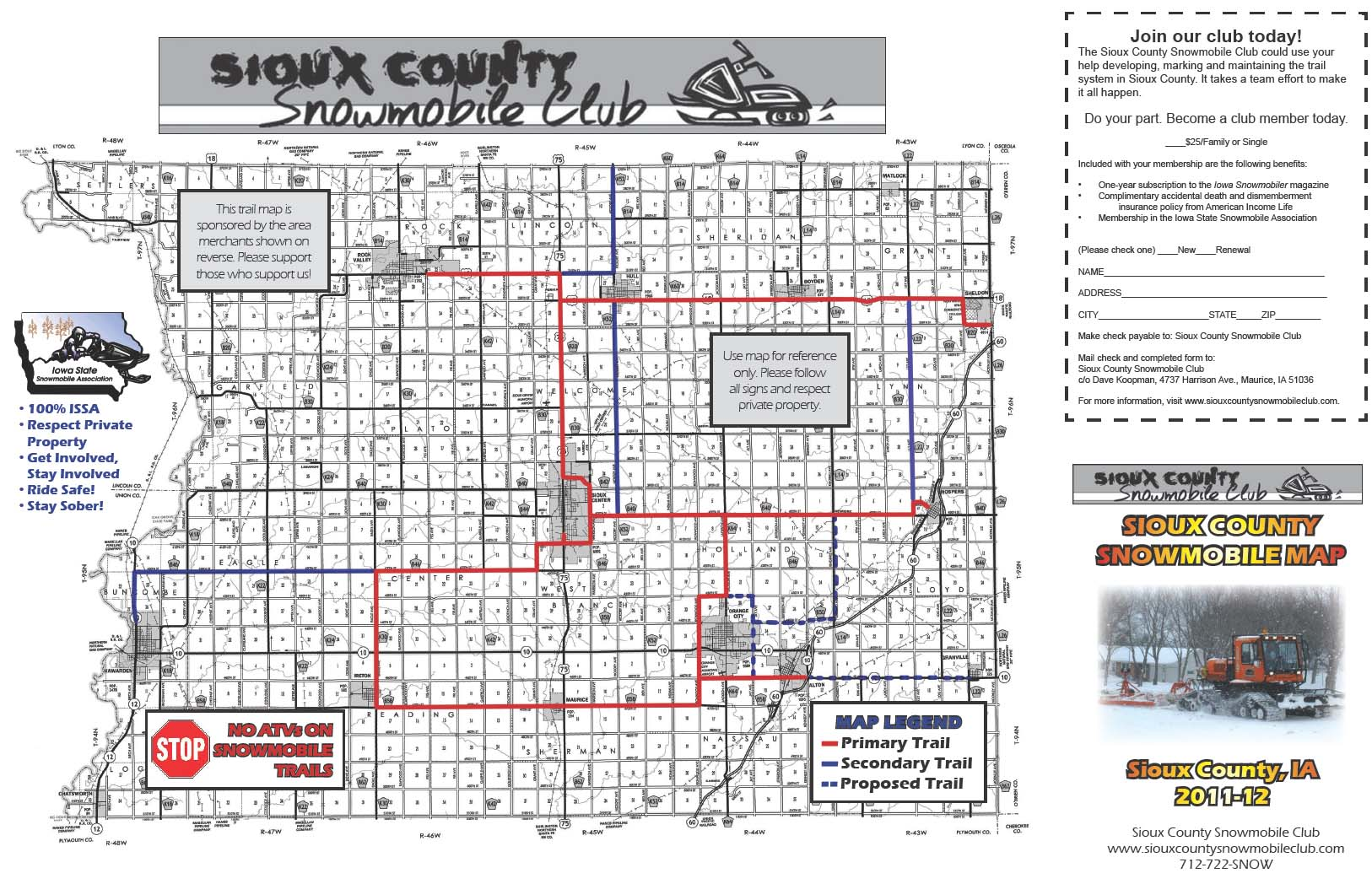 Sioux County Iowa Map.Iowa Snowmobile Trails