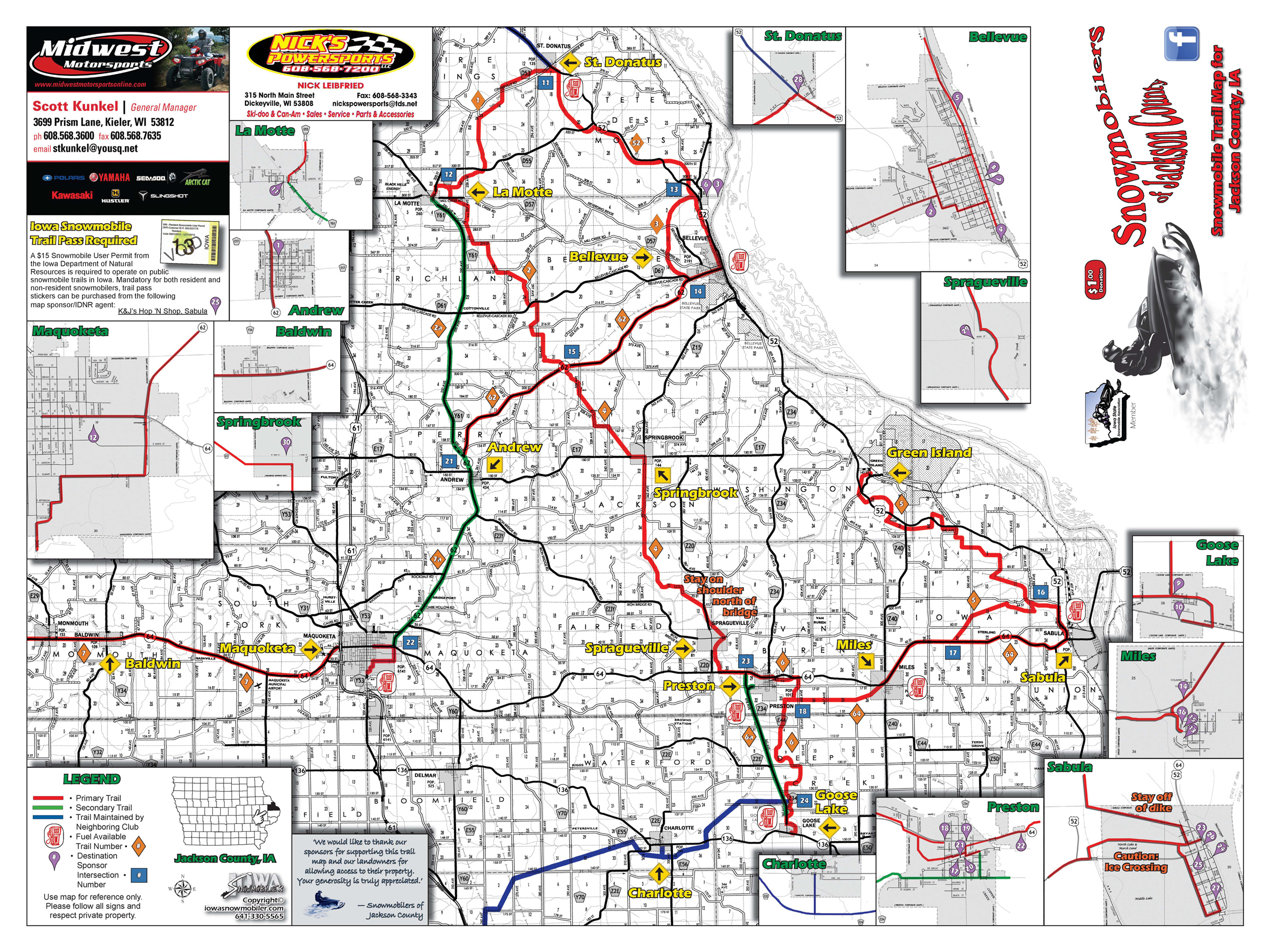 Iowa Snowmobile Trails - Iowa county map